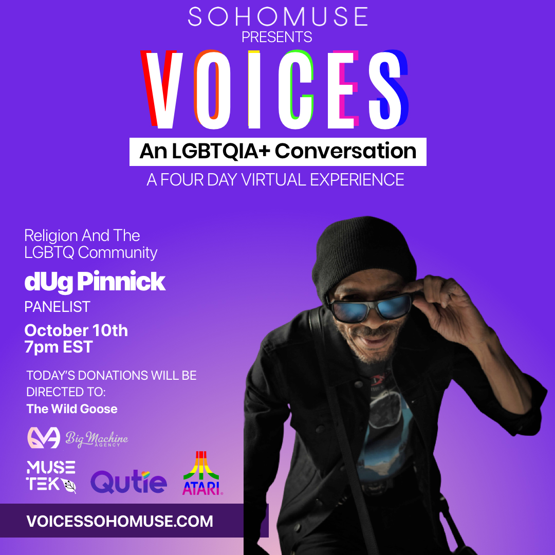 Join dUg On Voices: An LGBTQI+ Conversation - October 10 at 7pm